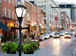 City Street in Baltimore, Maryland